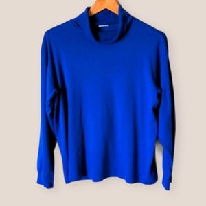Vintage Royal Blue Turtleneck Size L